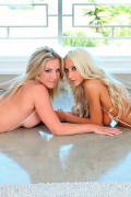 Ainsley Addison and Sammie with double dildo from We Live Together