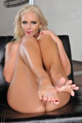 Phoenix Marie giving a great foot job from LifeSelector